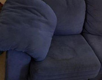 ניקוי ספת בד כחולה