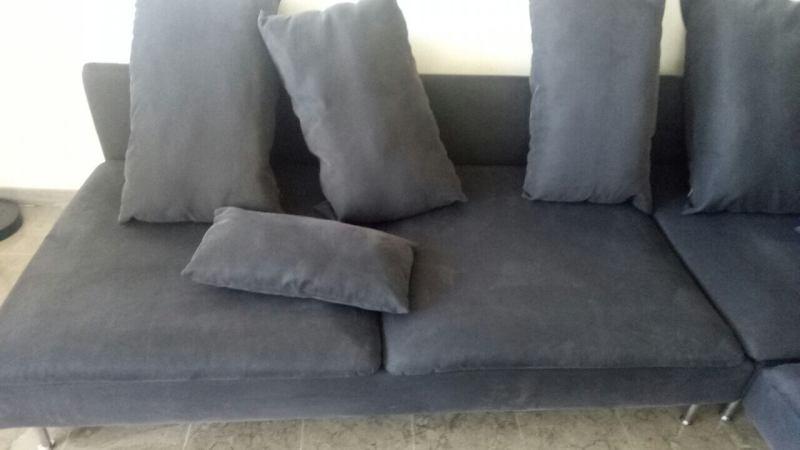ניקוי ספה אפורה