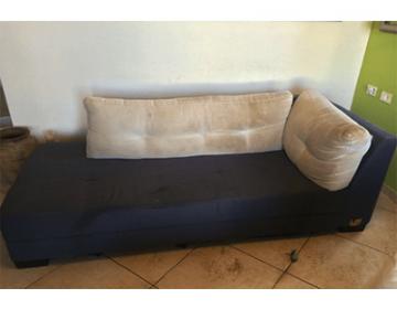 ניקיון ספת בד כחולה ולבנה