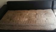 ספת בד חומה לפני ניקיון