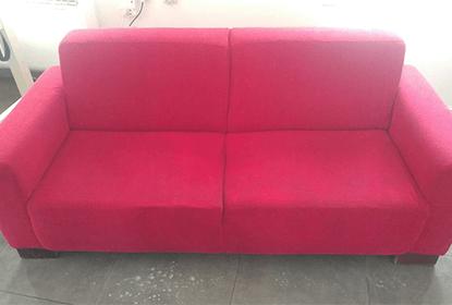 ניקוי ספת בד אדומה