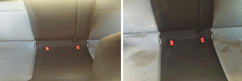 ניקוי מושבים שחורים ואפורים לרכב לפני ואחרי