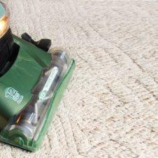 מכונה מקצועית בצבע ירוק מנקה שטיח