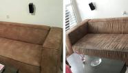 ניקוי ספת בד חומה לפני ואחרי ניקיון