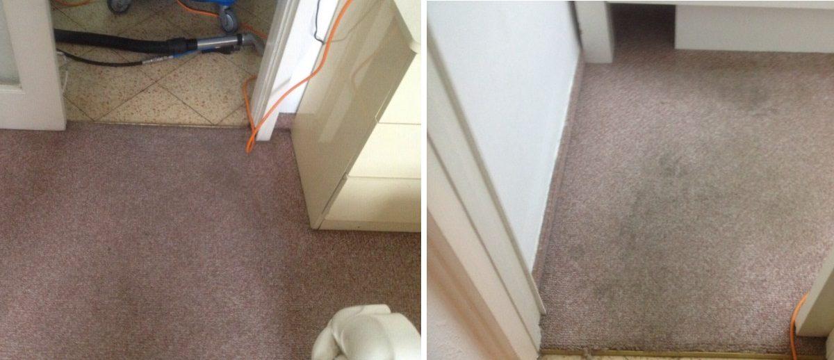 ניקיון שטיח חום לפני ואחרי ניקיון